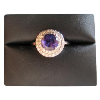 Bespoke Purple Tanzanite & Diamond Platinum Ring