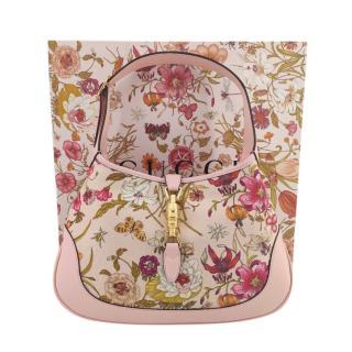 Gucci Pink Flora Jackie Shoulder Bag