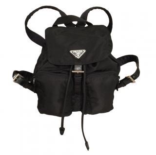 Prada Small Nylon Backpack in Black