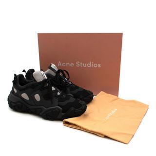 Acne Studios Black Bolzter Trainers