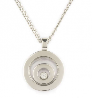 Chopard White Gold and Diamond Happy Spirit Pendant Necklace