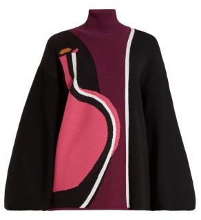 Roksanda Mylo Abstract intarsia knit top
