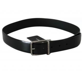 Dolce & Gabbana Mens Black Leather Belt