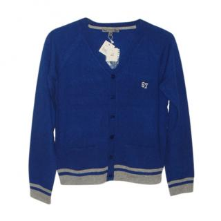 Bonpoint Blue Cashmere Cardigan