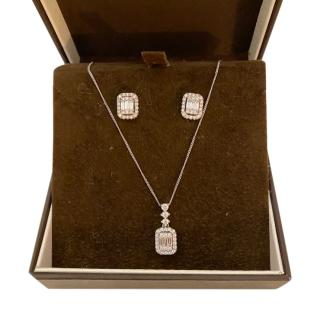 Bespoke Diamond Necklace & Earrings Suite