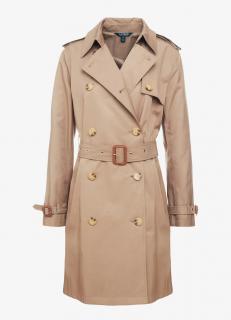 Lauren Ralph Lauren Beige Double Breasted Trench Coat