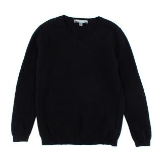 Bonpoint Black V Neck Cashmere Sweater