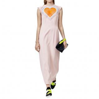 Christopher Kane Pink Love Hearts Maxi Dress