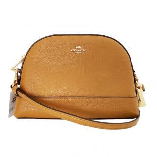 Coach Camel Leather Crossbody Bag