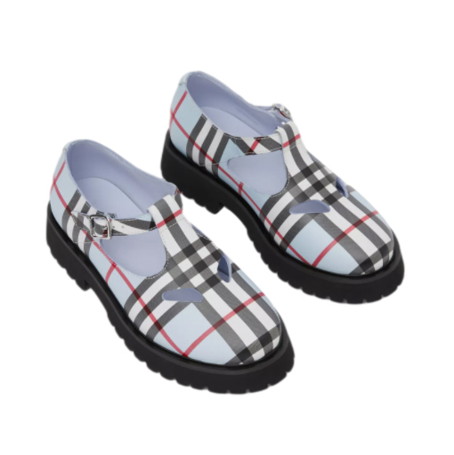 Burberry Pale Blue Vintage Check Girls Shoes