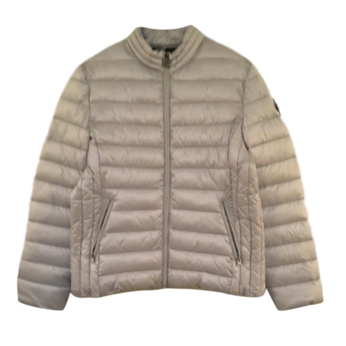 Roberto Cavalli Pale Gold Puffer Jacket