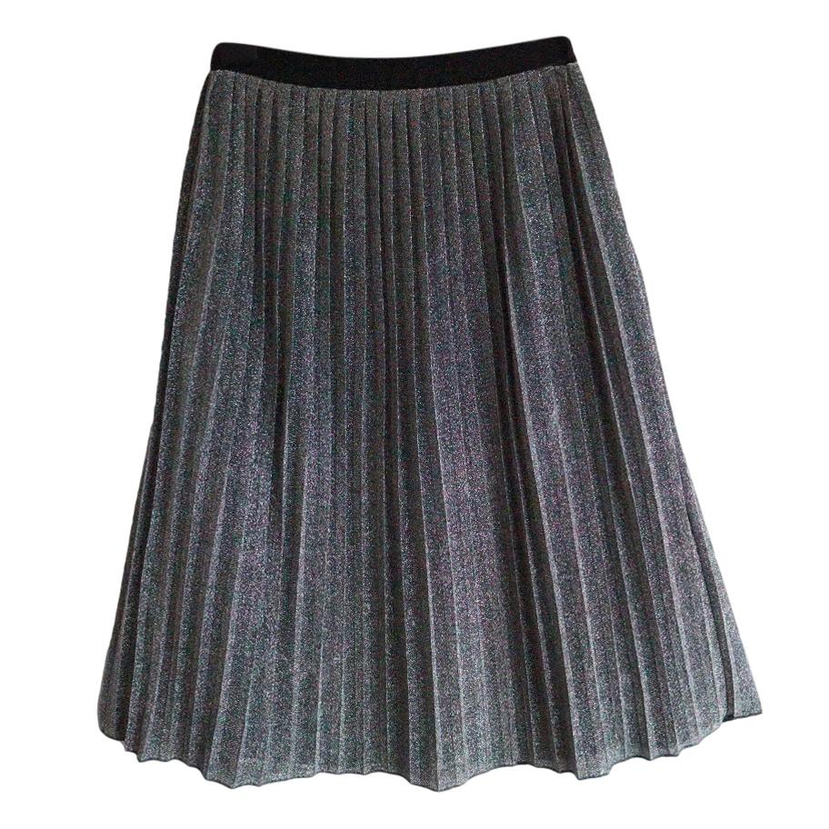 Day Birger et Mikkelsen Metallic Pleated Midi Skirt