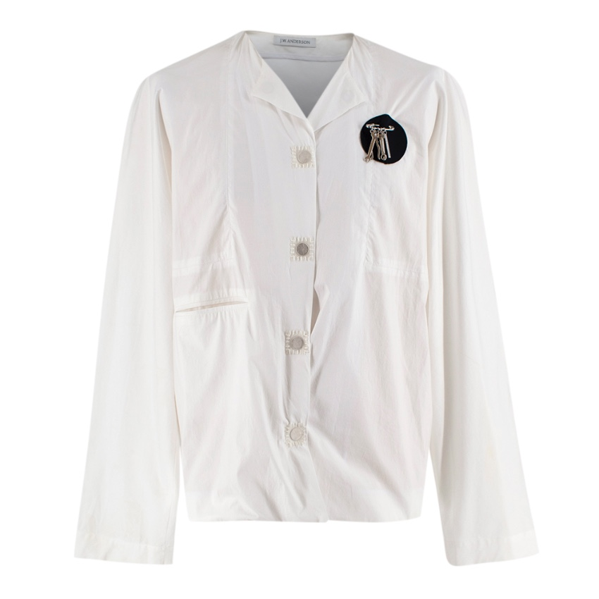 JW Anderson White Cotton Magnets Shirt