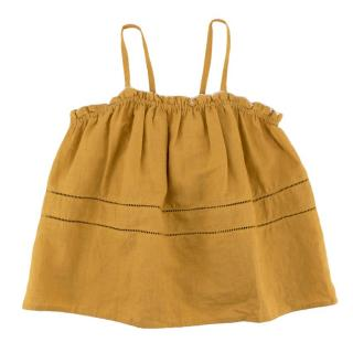 Caramel Golden Yellow Ruched Top