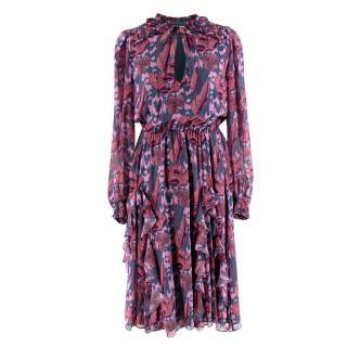 Temperley Purple Camille Dress