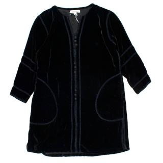 Caramel Delves Kaftan in Black Velvet
