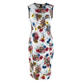 Erdem Floral Print Maura Sleeveless Neoprene Dress