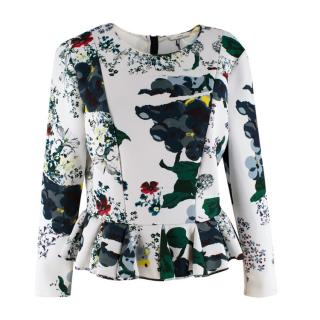 Erdem Forget me not Sahar Long-sleeve Top
