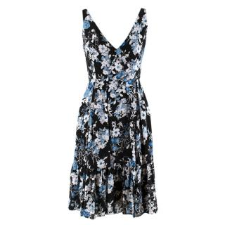 Erdem Silk Floral Gaby Mini Dress