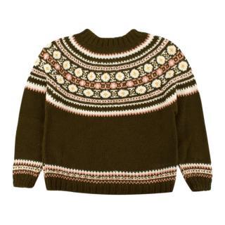 Caramel Alpaca Wool Knitted Jumper