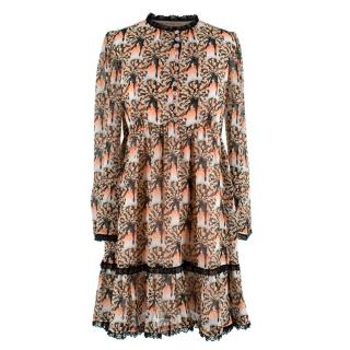 Temperley Can-Can Print Mini Dress