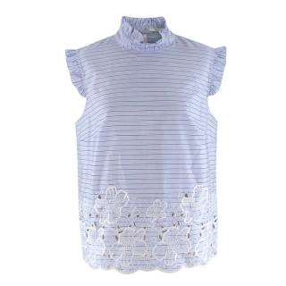 Erdem Mika broderie-anglaise cotton top