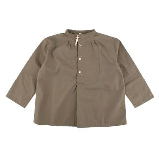 Caramel Grey Round Collar Shirt