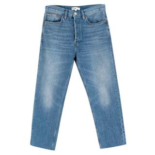 Goop X Re/Done High-Rise Stove Pipe Jeans - Bright