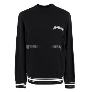 Alexander McQueen Black Logo Sweatshirt with front pocket