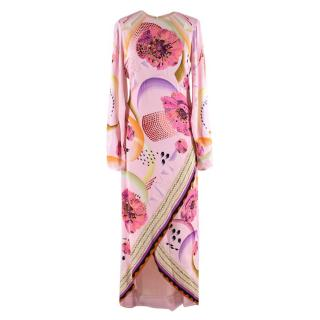 Temperley Light Pink Astaire Print Dress