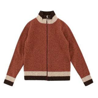 Caramel Burnt Orange Zip Up Jumper/Cardigan