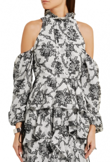Erdem Azalea cutout fil coupe top