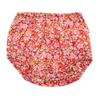 Caramel Red Floral Lily Bloomers