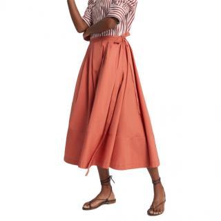 Goop X Thierry Colson Java Skirt in Terracotta