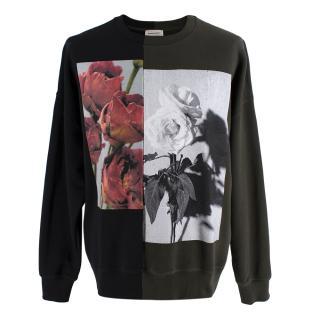 Alexander McQueen Contrast Rose Graphic Sweatshirt