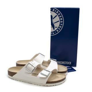 Goop X Birkenstock Arizon White Sandals