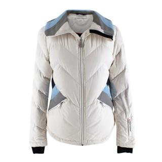 Perfect Moment Cream and Blue Ski Jacket