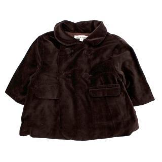 Caramel Brown Velvet Coat