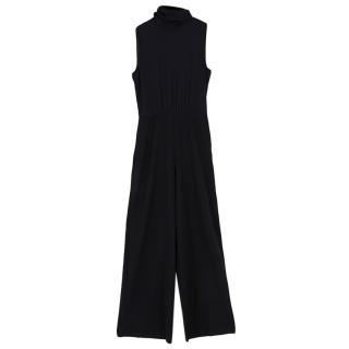 Goop Anne Peekaboo Blouse Jumpsuit in Black