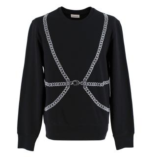 Alexander McQueen Black Chain Harness Sweatshirt
