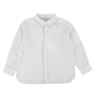 Caramel White & Grey Striped Shirt
