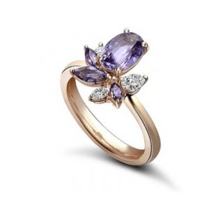 William & Son Purple Sapphire Ballet Ring