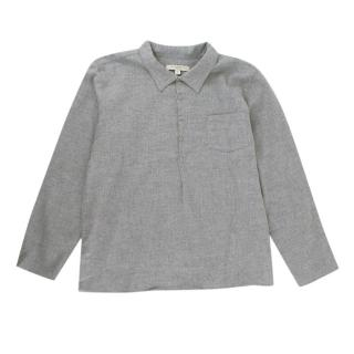 Caramel Grey Long Sleeve Polo Shirt