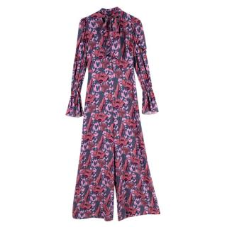 Temperley Purple Camille Print Jumpsuit