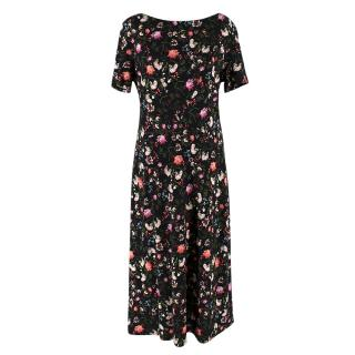 Erdem Vanya Dress in Black floral