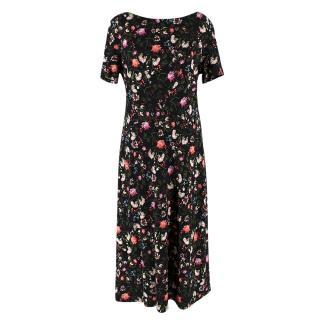 Erdem Vanya Dress in Black floral