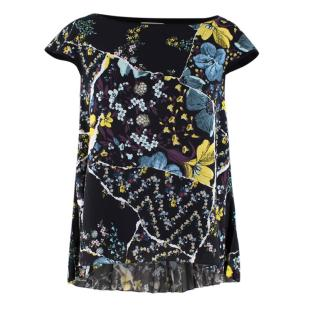 Erdem Greer Top with Lily Pleated Crepe in Black