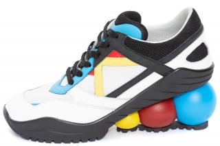 Christopher Kane High heel looner sneaker with multi coloured balls
