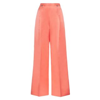 Christopher Kane Pink wide-leg satin trousers studded with silver dome