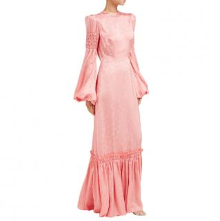 The Vampires Wife Blossom Dress Dress in Cosmo Damask Blush Pink